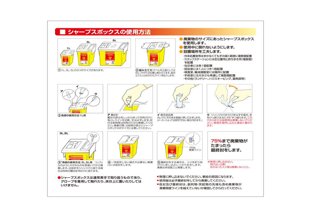 シャープスボックス使用方法