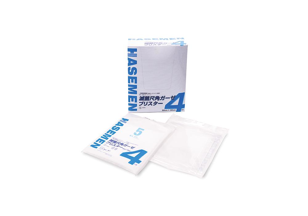 滅菌尺角ガーゼブリスター 30cm × 30cm 4折 5枚20袋入【一般医療機器】